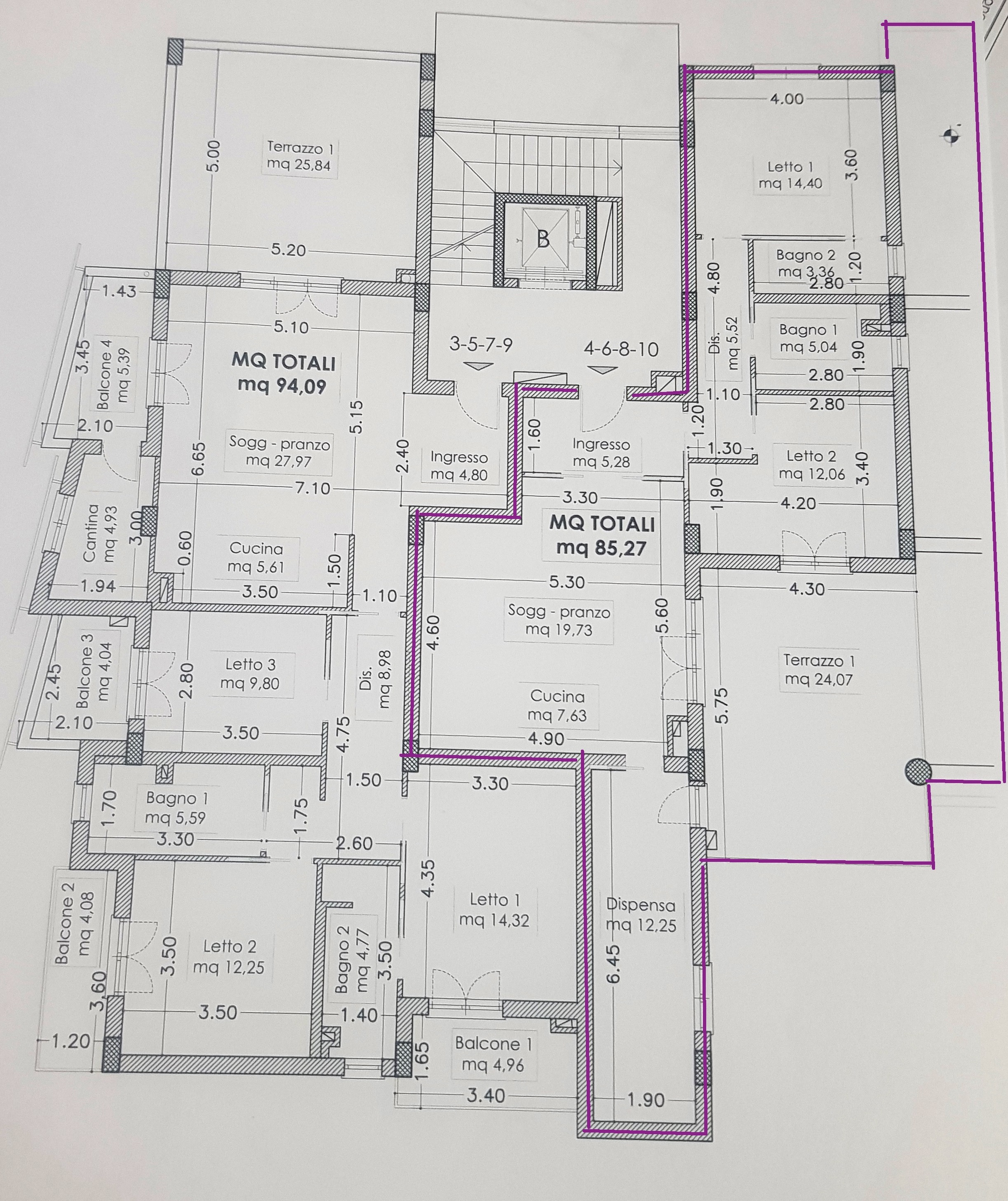 Progetto Appartamento 85 Mq rif 3132/85 appartamento nuova costruzione due camere